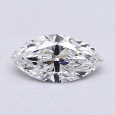 0.74-Carat Marquise Diamond Very Good D IF