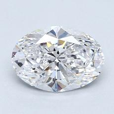 1,23-Carat Oval Diamond Very Good D VS2