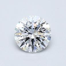0.70-Carat Round Diamond Ideal D VVS1