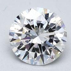 2.00-Carat Round Diamond Ideal D VS1