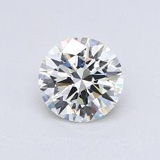 0.70-Carat Round Diamond Ideal I VVS2