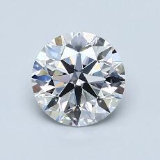 1.00 Carat 圆形 Diamond 理想 D VS2