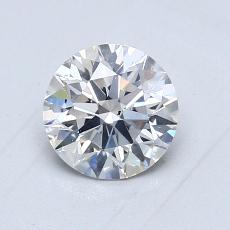 1.02-Carat Round Diamond Ideal E SI1