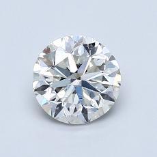 1.00 Carat 圆形 Diamond 良好 I SI1