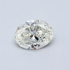 推薦鑽石 #1: 0.50 克拉橢圓形切割鑽石