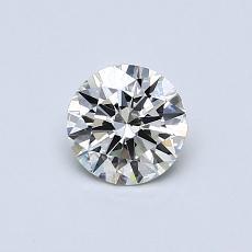 0.50-Carat Round Diamond Ideal K SI2