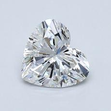 1.00-Carat Heart Diamond Very Good D SI1
