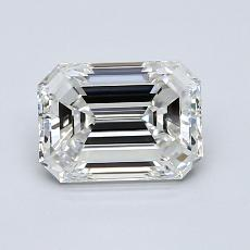 1.20-Carat Emerald Diamond Very Good F VVS2