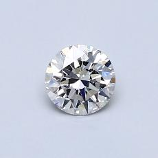 0.40-Carat Round Diamond Ideal I VVS1