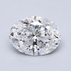 1.20-Carat Oval Diamond Very Good D SI1