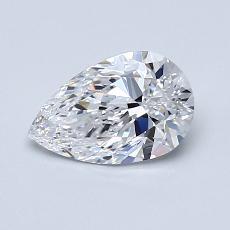 Piedra recomendada 3: Diamante en forma de pera de0.81 quilates