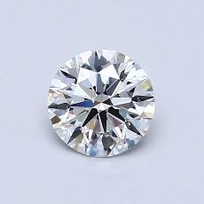 0,70-Carat Round Diamond Ideal F VVS2