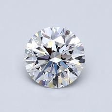 0.82-Carat Round Diamond Ideal D VS1