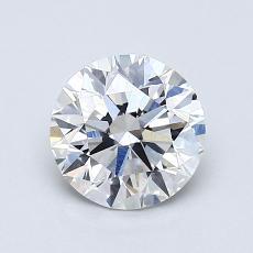 0.90-Carat Round Diamond Ideal F SI1