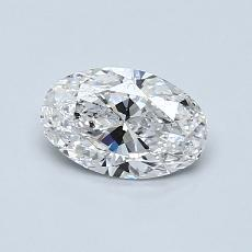 推荐宝石 3:0.65克拉椭圆形切割钻石