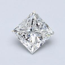 0.90-Carat Princess Diamond Very Good F VS2