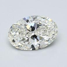 1.00 Carat 椭圆形 Diamond 非常好 I VS1