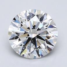 2.00-Carat Round Diamond Ideal D VS2