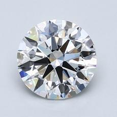 1.50-Carat Round Diamond Ideal F IF