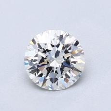 0.80 Carat 圆形 Diamond 理想 E VVS2