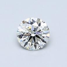 0.55-Carat Round Diamond Ideal I VVS1