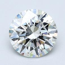 1,50 Carat Rond Diamond Idéale H VVS1