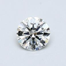 0.50-Carat Round Diamond Ideal K SI1