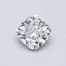 0.56-Carat Cushion Diamond Very Good D VVS1