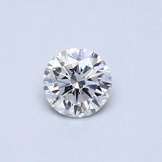 Pierre recommandée n°1: Diamant taille ronde 0,38 carat