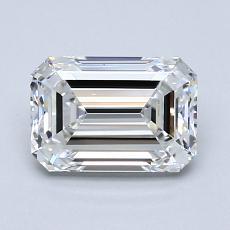 1,29-Carat Emerald Diamond Very Good E VVS1