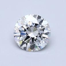 0,80-Carat Round Diamond Ideal E VS1