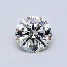 0,70 Carat Rond Diamond Idéale K SI2