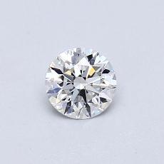0.40-Carat Round Diamond Ideal E VVS2