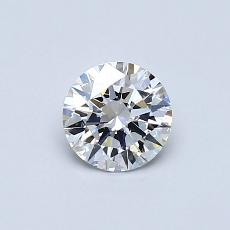 0.52-Carat Round Diamond Ideal D VVS1