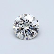 0.53 Carat 圆形 Diamond 理想 K SI1