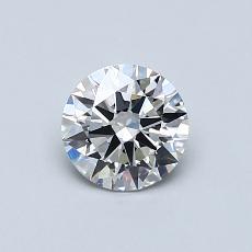 0.60 Carat 圆形 Diamond 理想 G VS2
