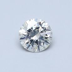 0,50-Carat Round Diamond Ideal I SI2