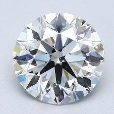 2.00 Carat 圆形 Diamond 理想 E VS2