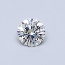 0.40-Carat Round Diamond Ideal G VS2
