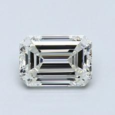 1,00-Carat Emerald Diamond Very Good I IF
