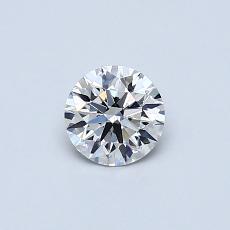 0.40 Carat 圆形 Diamond 理想 H VVS2