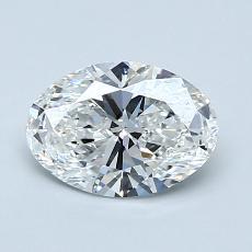 1.00-Carat Oval Diamond Very Good F VS1