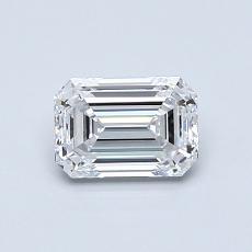 0.71-Carat Emerald Diamond Very Good D IF