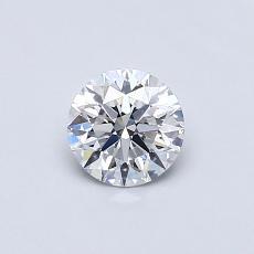 0,50 Carat Rond Diamond Idéale D VVS2