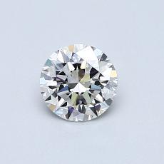 0.50-Carat Round Diamond Ideal G IF