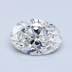 1,00 Carat Ovale Diamond Très bonne F IF