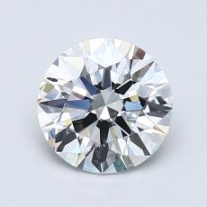 1,02 Carat Rond Diamond Idéale E IF