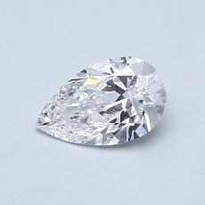 0.53-Carat Pear Diamond Very Good D IF