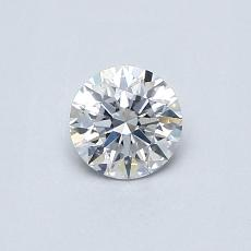 0.40-Carat Round Diamond Ideal E SI1