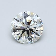 1,02 Carat Rond Diamond Idéale H VS2